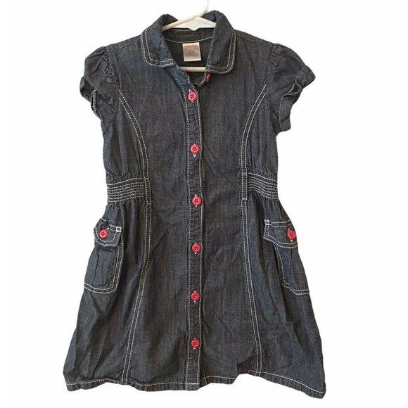 Gymboree Girls Dress Size 5 Chambray Button Front